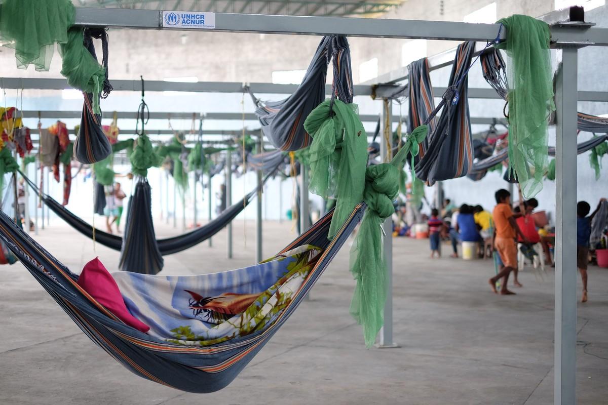 Abrigo para venezuelanos na fronteira com RR atinge 87% da lotação em cinco dias de atividades