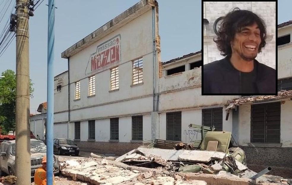 Paulo morreu após ser atingindo por parte do muro do prédio no centro de Jaú — Foto: Arquivo pessoal