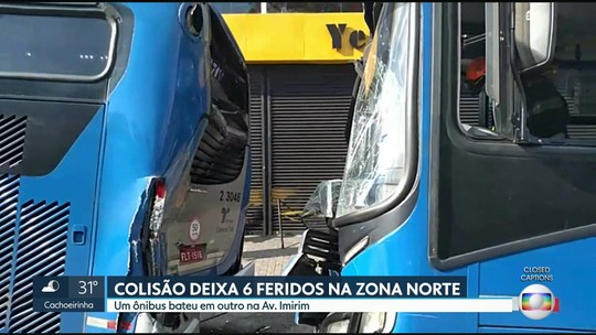Dois ônibus batem e acidente deixa 6 feridos na Zona Norte de SP
