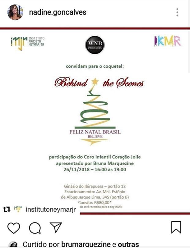 Bruna Marquezine participará de evento beneficente de ex Neymar (Foto: Reprodução)