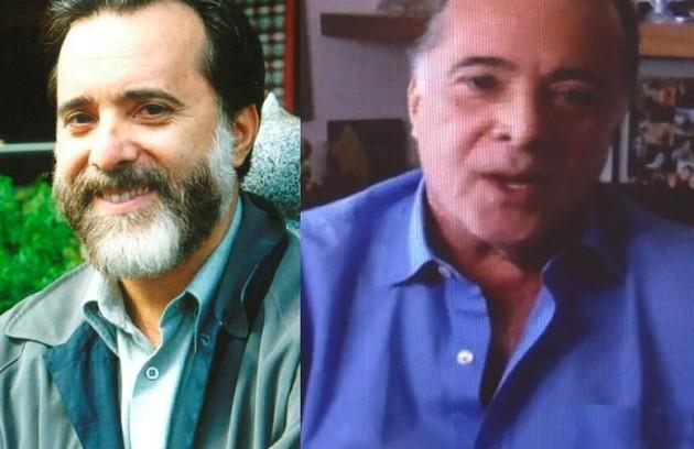 Tony Ramos foi Miguel, dono de uma livraria que se apaixona por Helena. O ator estava escalado para a novela 'O selvagem da ópera', que foi adiada (Foto: TV Globo )