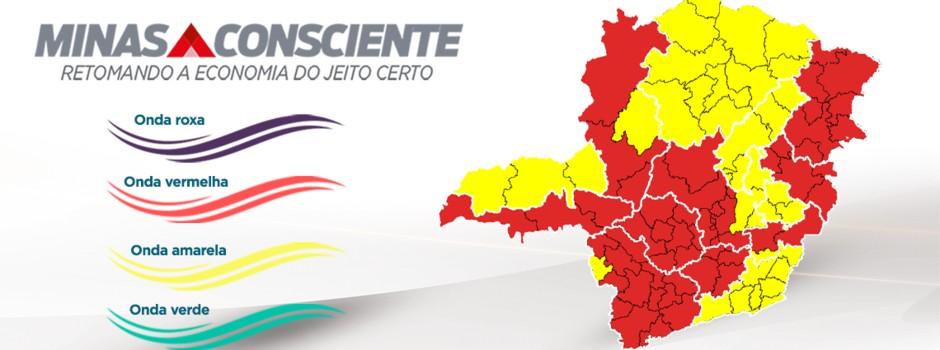Macrorregião Norte avança para a 'onda amarela' do Minas Consciente