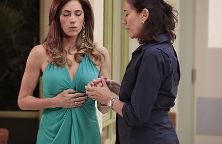 'Fina estampa' conta a história da rivalidade de duas mulheres completamente diferentes, Tereza Cristina (Christiane Torloni) e Griselda (Lilia Cabral) TV Globo
