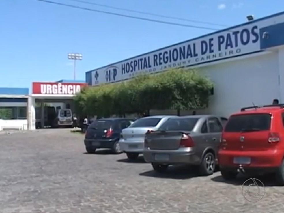 Hospital Regional de Patos, no Sertão da Paraíba — Foto: Reprodução/TV Paraíba