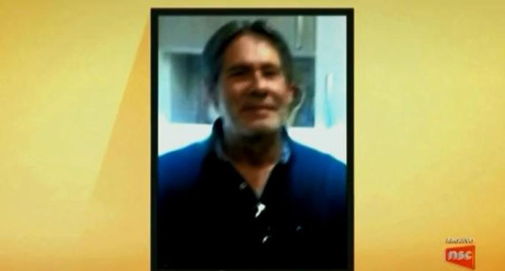 Engenheiro Sérgio Renato Silva, de 64 anos, morreu em Itajaí (Foto: Reprodução/ NSC TV)