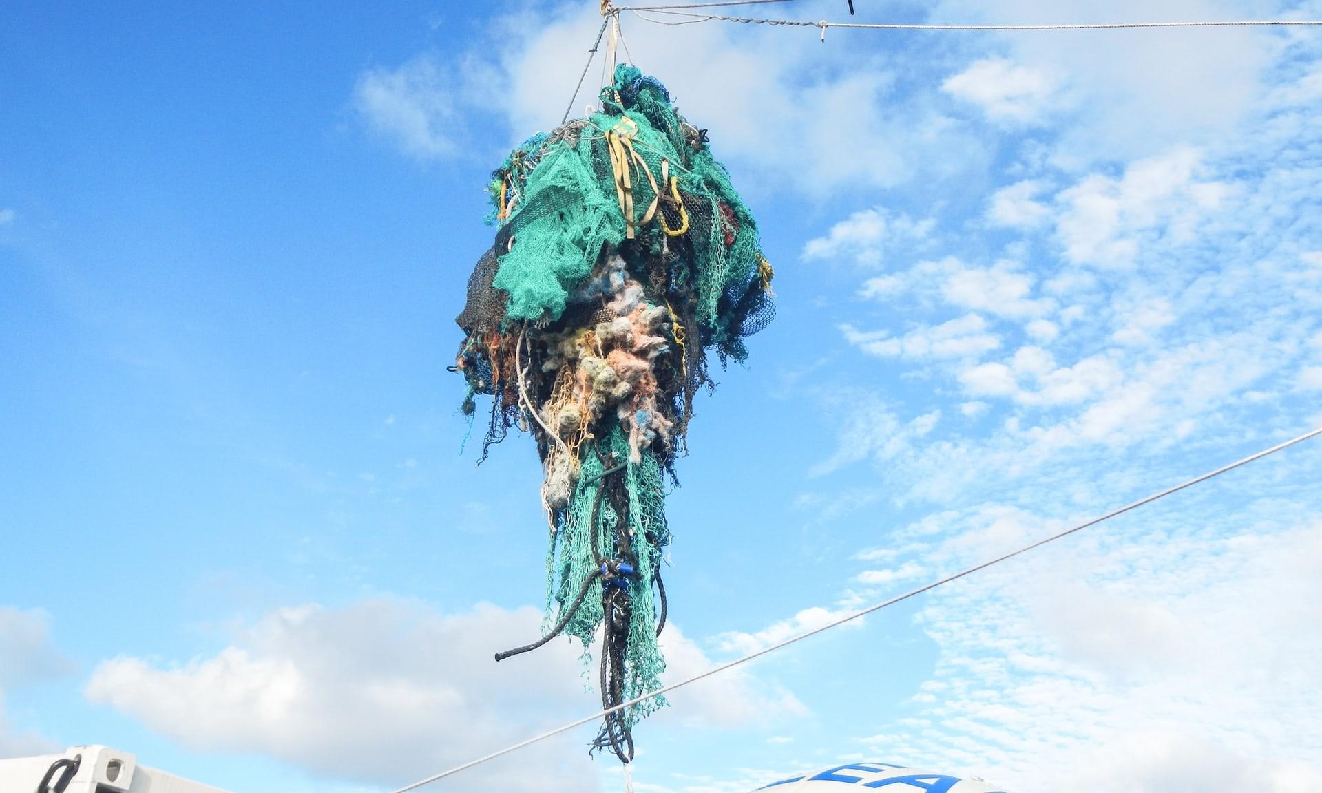 Lixo nos oceanos (Foto: Divulgação/The Ocean Cleanup)