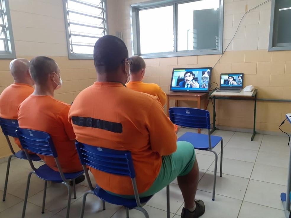 Jornada de Leitura no Cárcere é realizado pelo Conselho Nacional de Justiça (CNJ) — Foto: TJSC/Reprodução