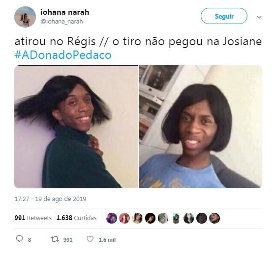 Internauta comenta capítulo de 'A dona do pedaço' (Foto: Reprodução / Twitter)