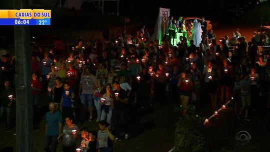 Romaria reúne 30 mil pessoas em São Domingos do Sul, no RS