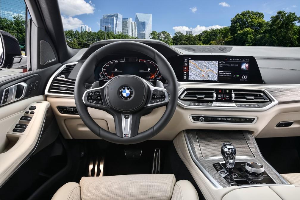 Interior do BMW M50d — Foto: Divulgação/BMW