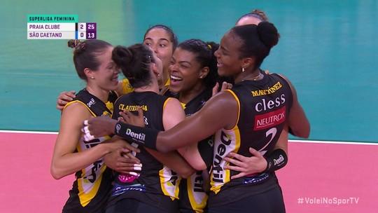 Praia Clube vence São Caetano no primeiro jogo em casa na Superliga Feminina