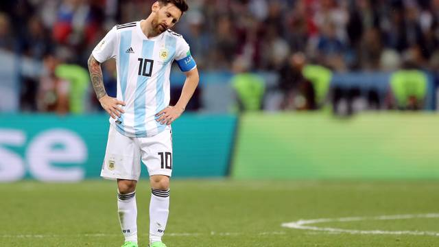 Lionel Messi em Argentina x Croácia