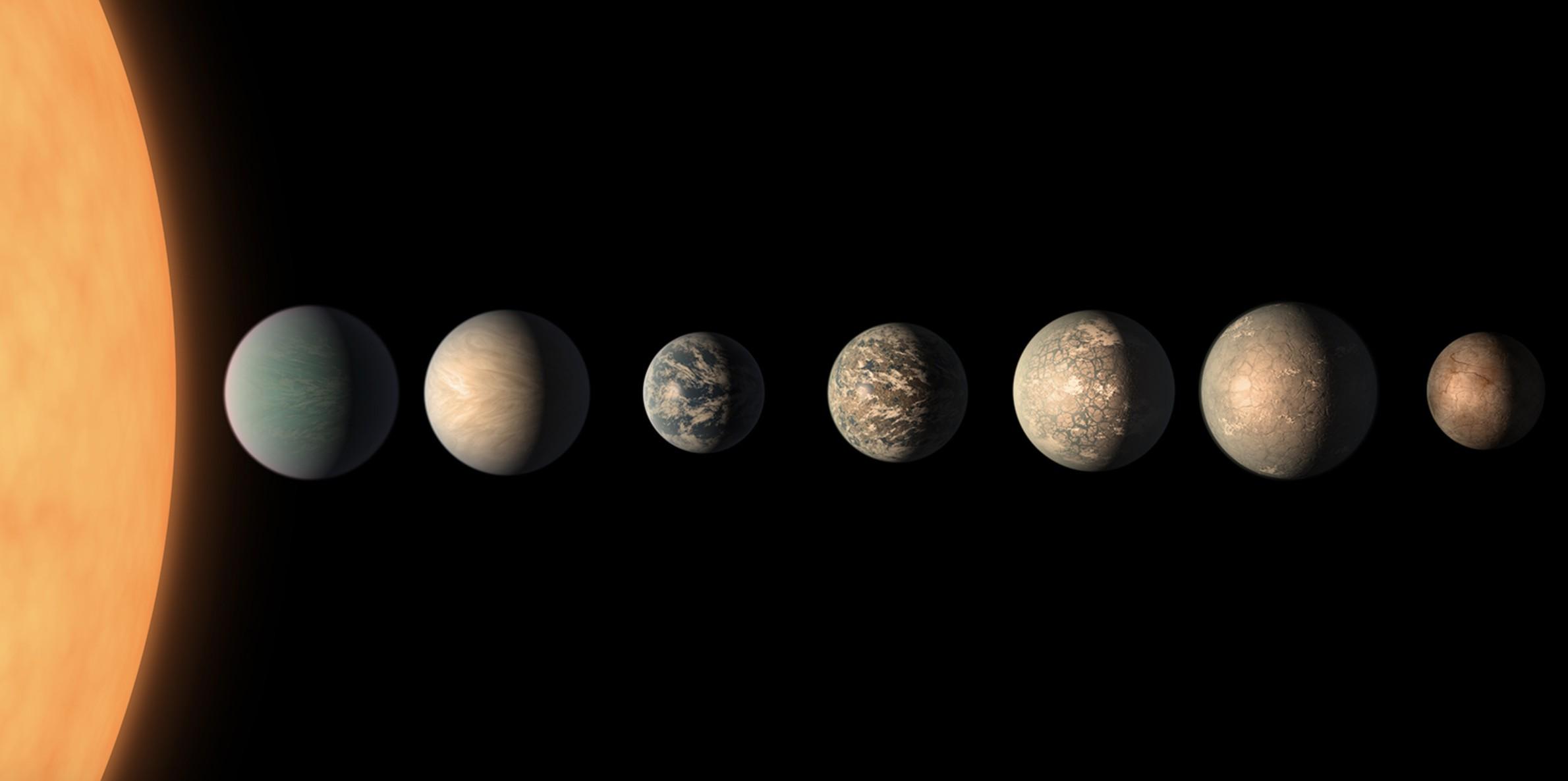 Representação da NASA do Sistema Solar (Foto: NASA/ JPL-Caltech)