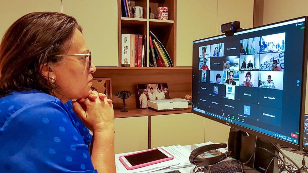 Governadora do RN participa de reunião com prefeitos sobre novo decreto  — Foto: Divulgação
