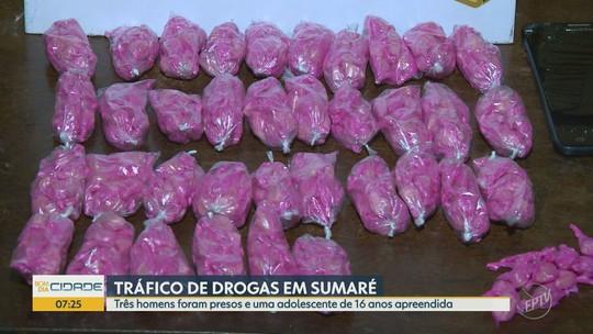 Polícia Militar prende 3 suspeitos por tráfico de drogas em Sumaré; jovem de 16 anos foi apreendida