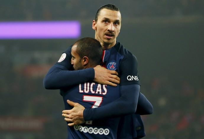 Ibrahimovic Lucas PSG Lyon (Foto: Reuters)