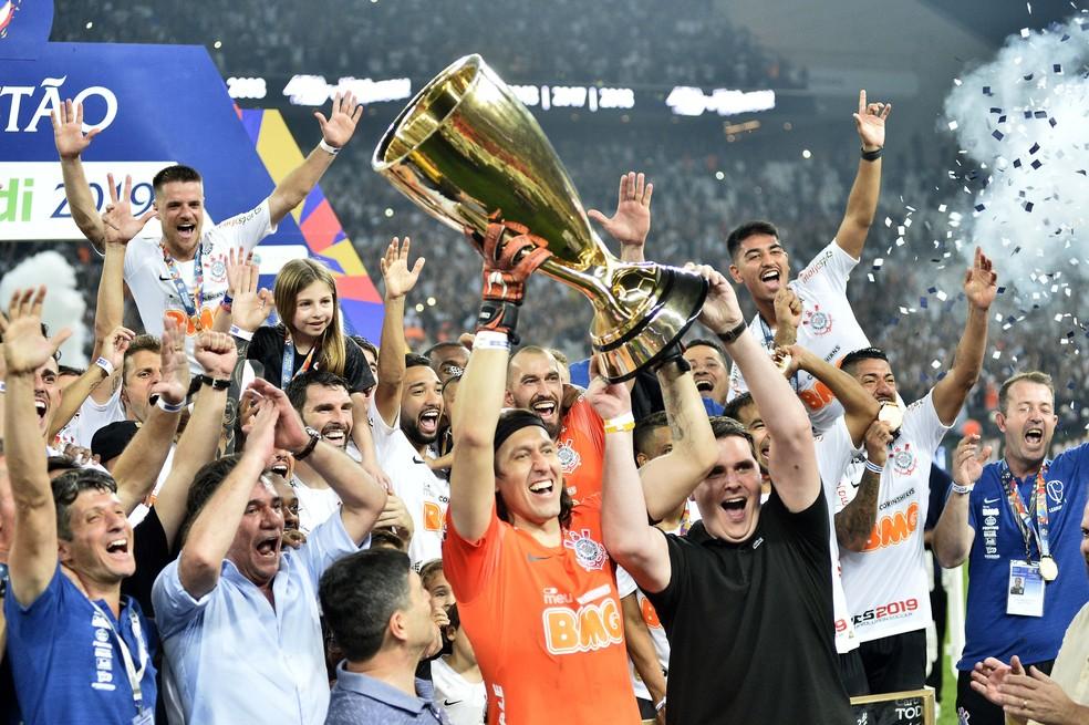 Corinthians foi o campeão paulista de 2019  — Foto: Marcos Ribolli
