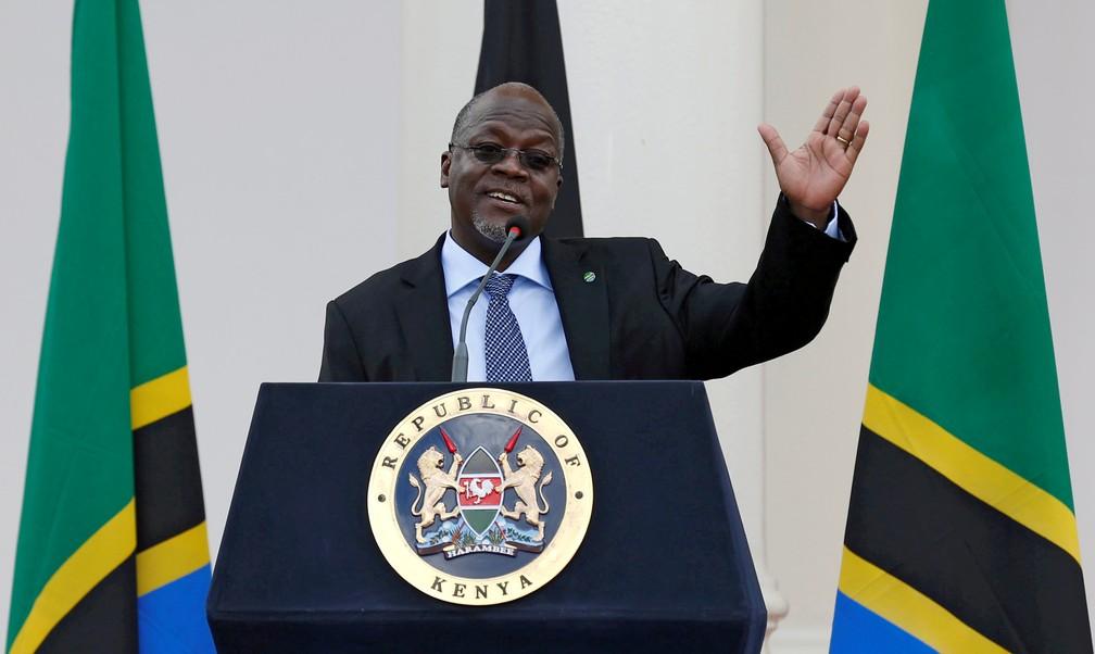 John Magufuli, presidente da Tanzânia morto nesta quarta (17), em foto tirada no Quênia em 2016 — Foto: Thomas Mukoya/Arquivo/Reuters