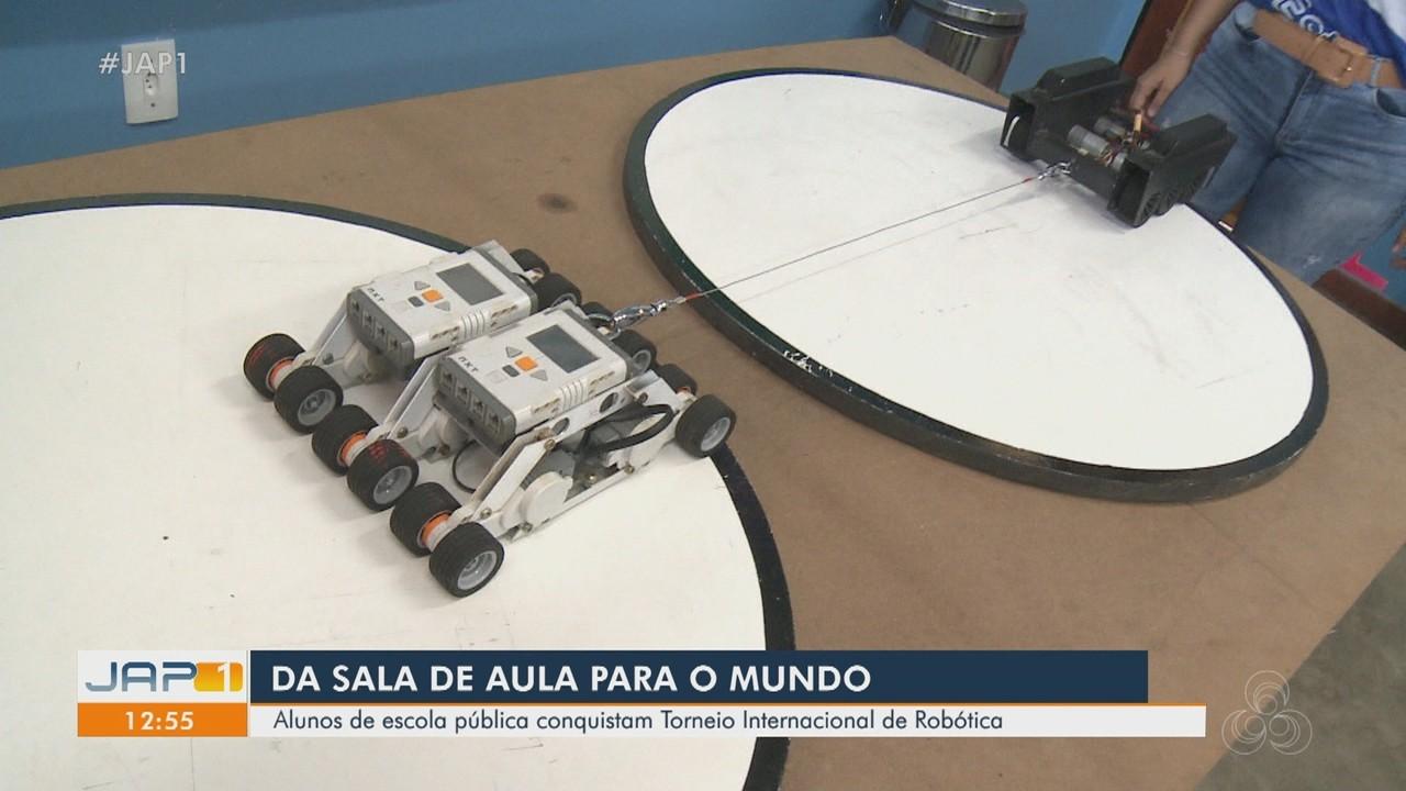 Alunos de escola pública do AP conquistam torneio internacional de robótica