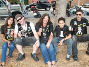 Família Silva reunida durante passeio em 2008 (Foto: Arquivo Pessoal)