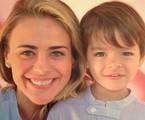 Juliana Silveira com o filho, Bento | Reprodução