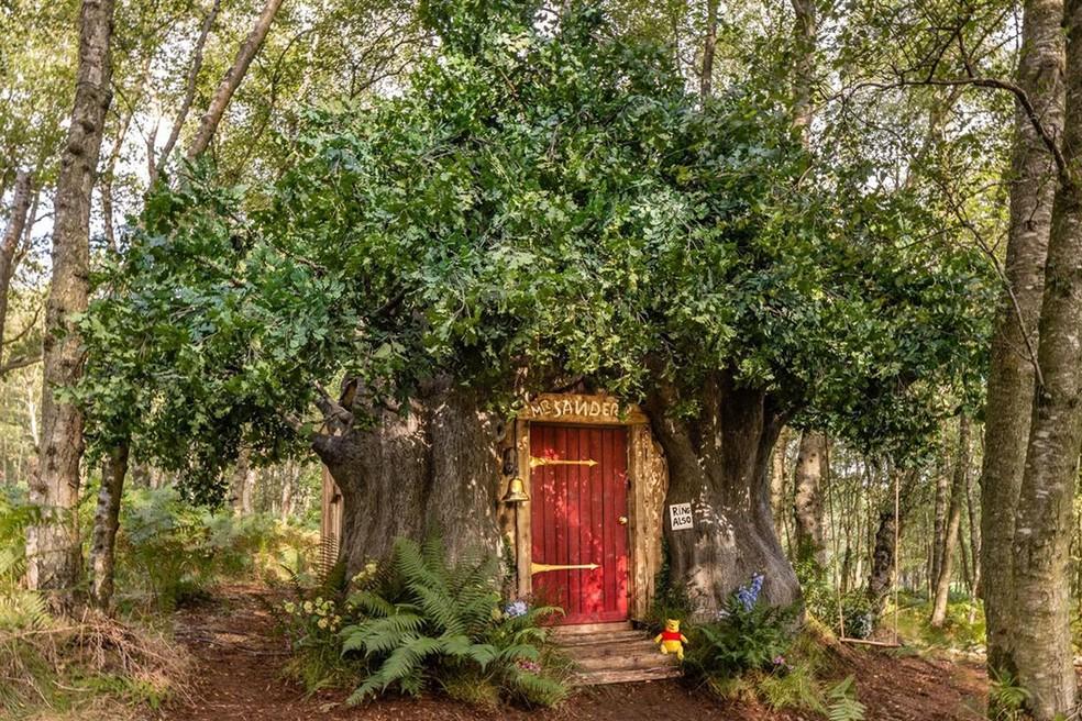 Casa baseada nos desenhos do Ursinho Pooh é recriada por desenhista original e pode ser alugada pelo Airbnb — Foto: Divulgação/Airbnb