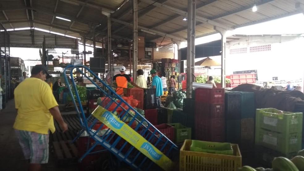 Estoques de produtos está pequeno na Ceasa do Rio Grande do Norte (Foto: Ediana Miralha/Inter TV Cabugi)