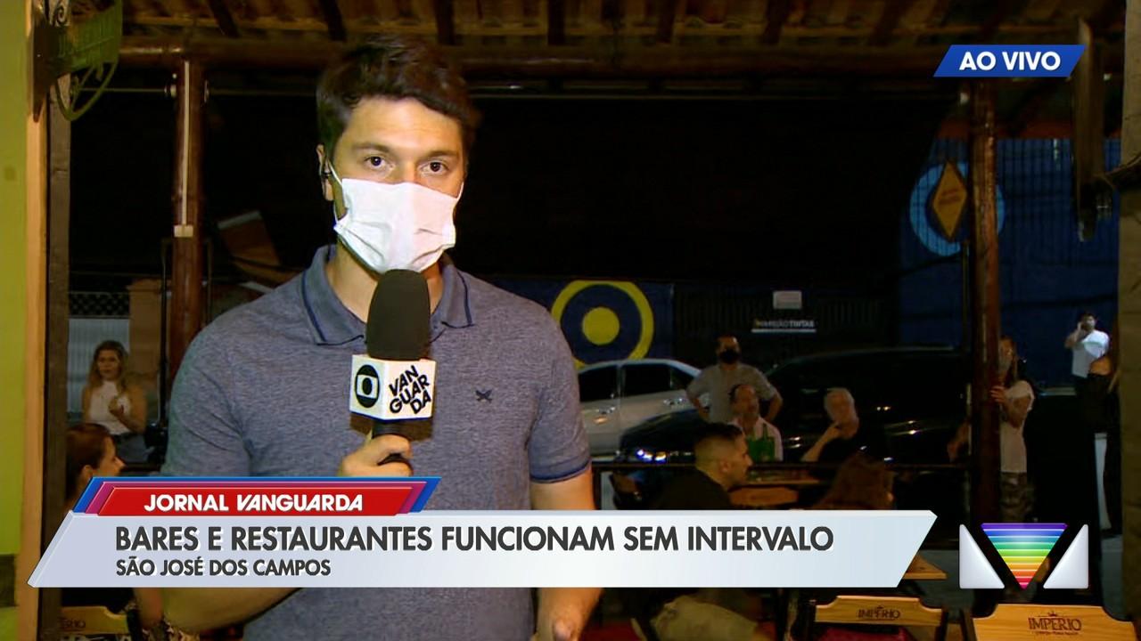Bares e restaurantes passam a funcionar sem intervalos em São José