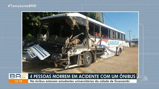 Mortos em acidente com ônibus que levava estudantes na BA são identificados; prefeitura decreta luto e faculdade suspende aulas