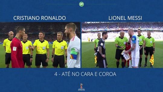 Messi perde para Cristiano Ronaldo até no cara e coroa na primeira rodada