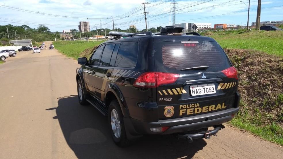 Polícia Federal deflagrou Operação Buracos em Rioo Branco, nesta segunda-feira (30)  (Foto: Jefson Dourado/Rede Amazônica Acre)