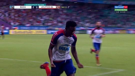 Confira os gols de Bahia 3 x 0 Atlético de Alagoinhas