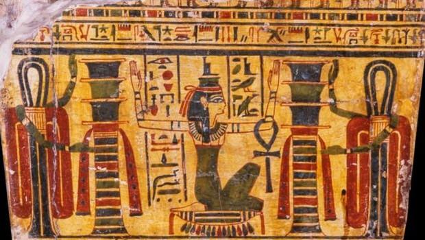 Esquife de Hori integra a coleção adquirida por D. Pedro 1º e é provavelmente oriunda de Tebas (Foto: MUSEU NACIONAL via BBC)