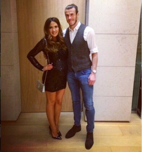 A craque galês do Real Madrid, Gareth Bale, com a noiva (Foto: Instagram)