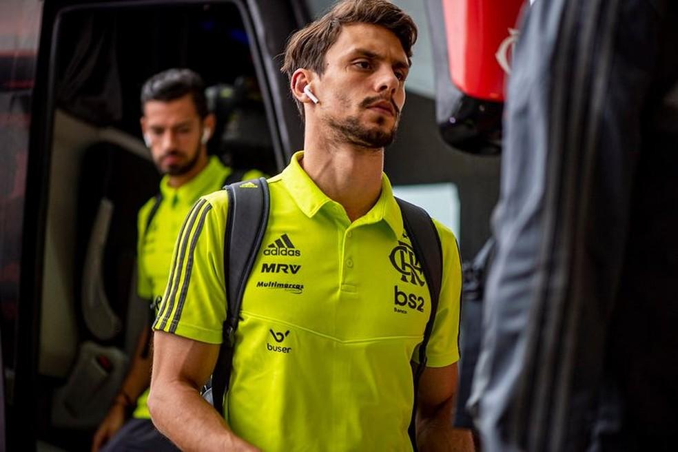 Rodrigo Caio foi o primeiro reforço do Flamengo para 2019 — Foto: Marcelo Cortes / Flamengo
