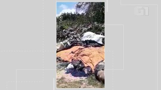Moradores de Maraú, na BA, denunciam descarte irregular em lixão de óleo encontrado no mar