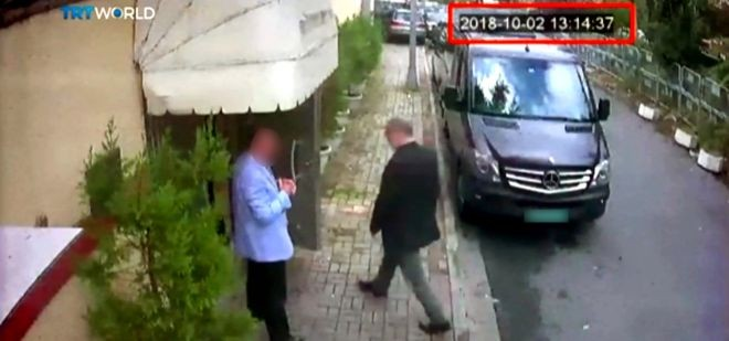 Khashoggi arriving at the Saudi Consulate in Istanbul (Photo: REUTERS)