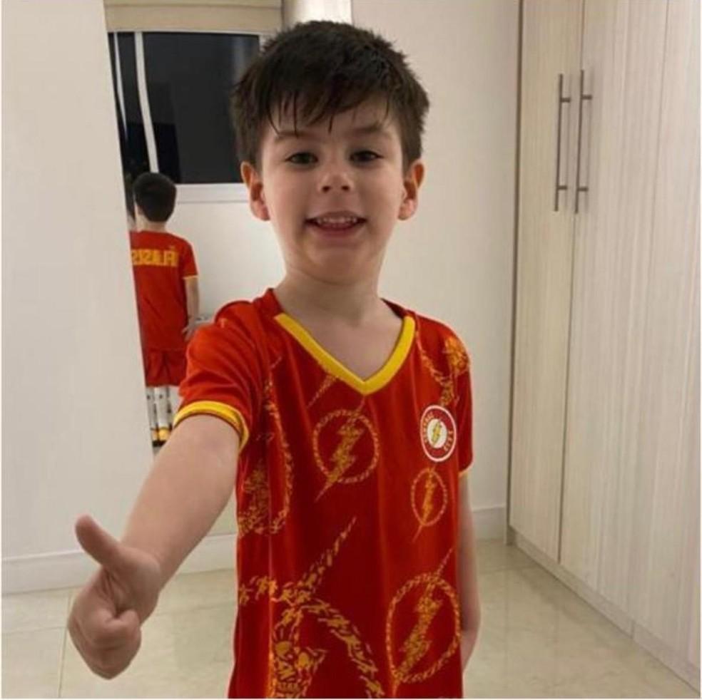 O menino Henry Borel, de 4 anos, — Foto: Reprodução