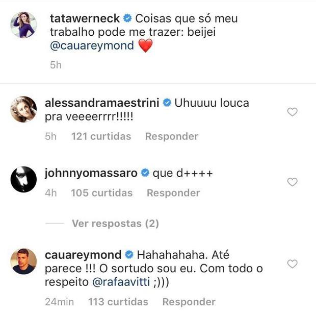 Comentário de Cauã Reymond em post de Tatá Werneck (Foto: Reprodução/Instagram)