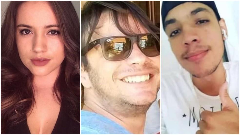Bruna Lícia, Diogo Adriano e Marcos Matheus foram vítimas da violência na Grande São Luís em 2020 — Foto: Montagem/G1/Arquivo pessoal