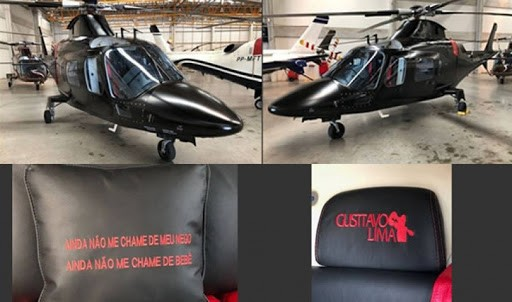 Helicóptero particular de Gusttavo Lima (Foto: Reprodução/Instagram)