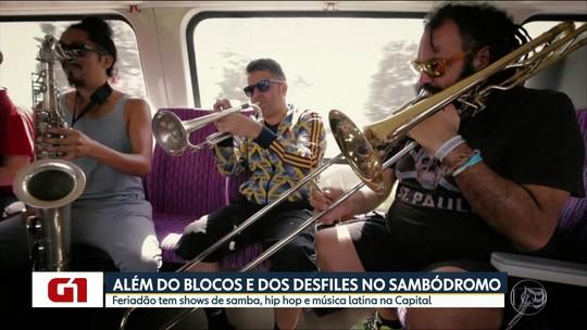 Rap, cumbia e samba estão nas dicas de shows durante o carnaval