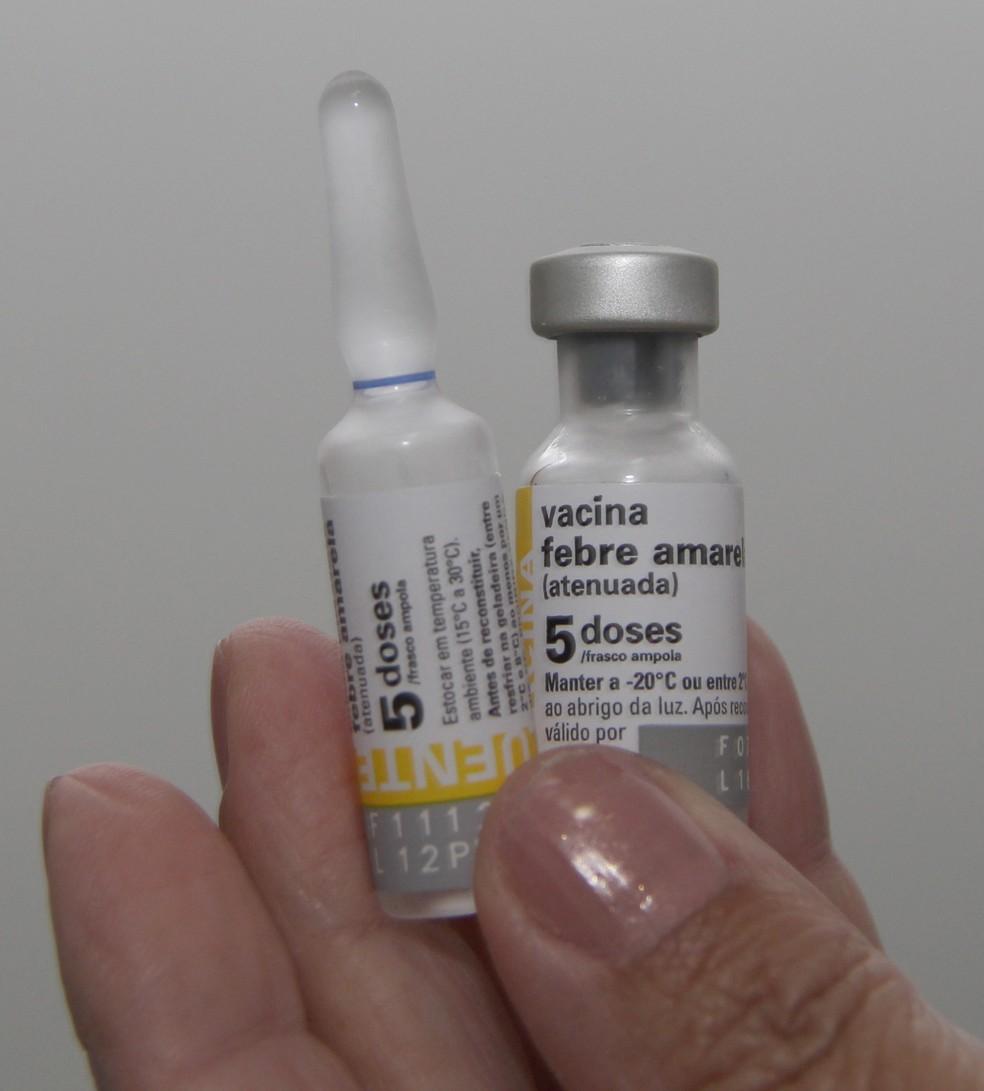 Dose da vacina contra a febre amarela  (Foto: Antonio Márcio/ Prefeitura de Itaquaquecetuba)