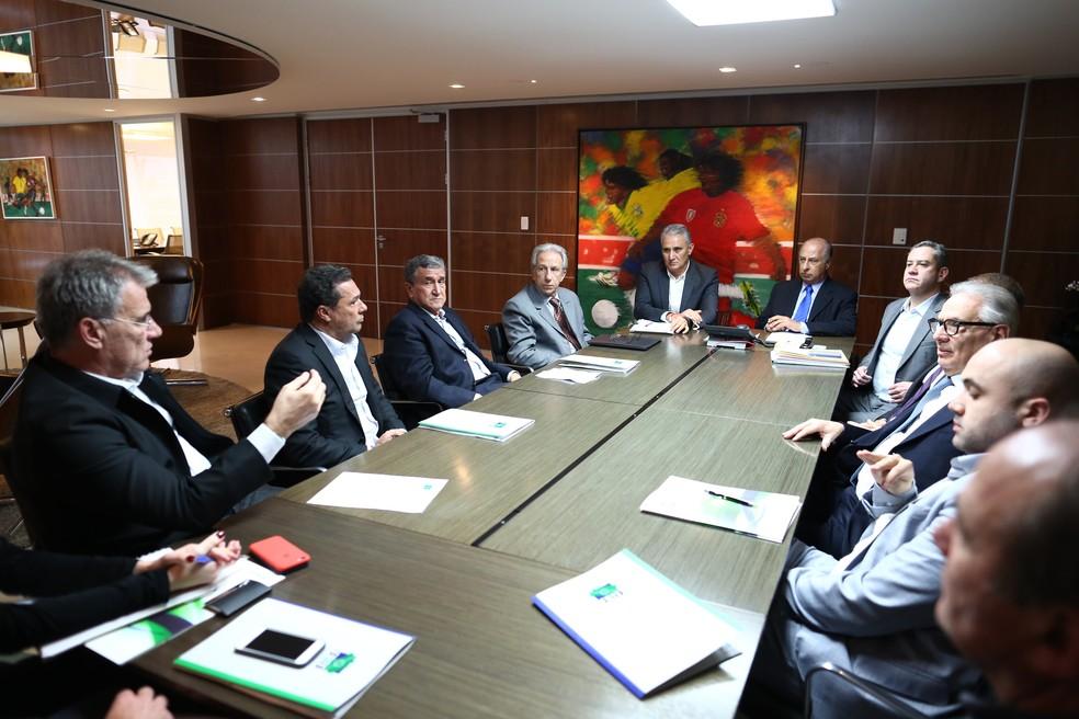 Comitê de treinadores leva propostas à diretoria da CBF (Foto: Lucas Figueiredo/CBF)