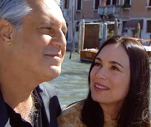Antonio Fagundes e Regina Duarte como Atílio e Helena em 'Por amor'   Reprodução
