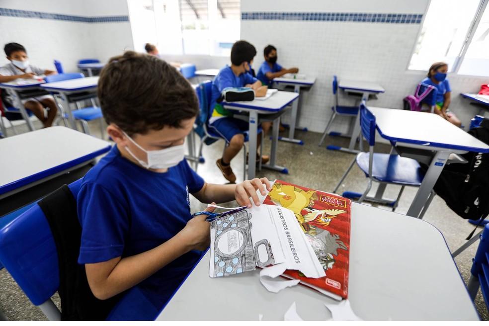 Escolas estaduais de Mato Grosso retomam aulas 100% presenciais na segunda-feira (18). — Foto: Tchélo Figueiredo/SECOM-MT