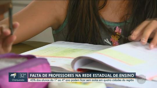 Estado projeta 1,5 mil crianças sem aulas em 4 cidades da região de Campinas por falta de professor