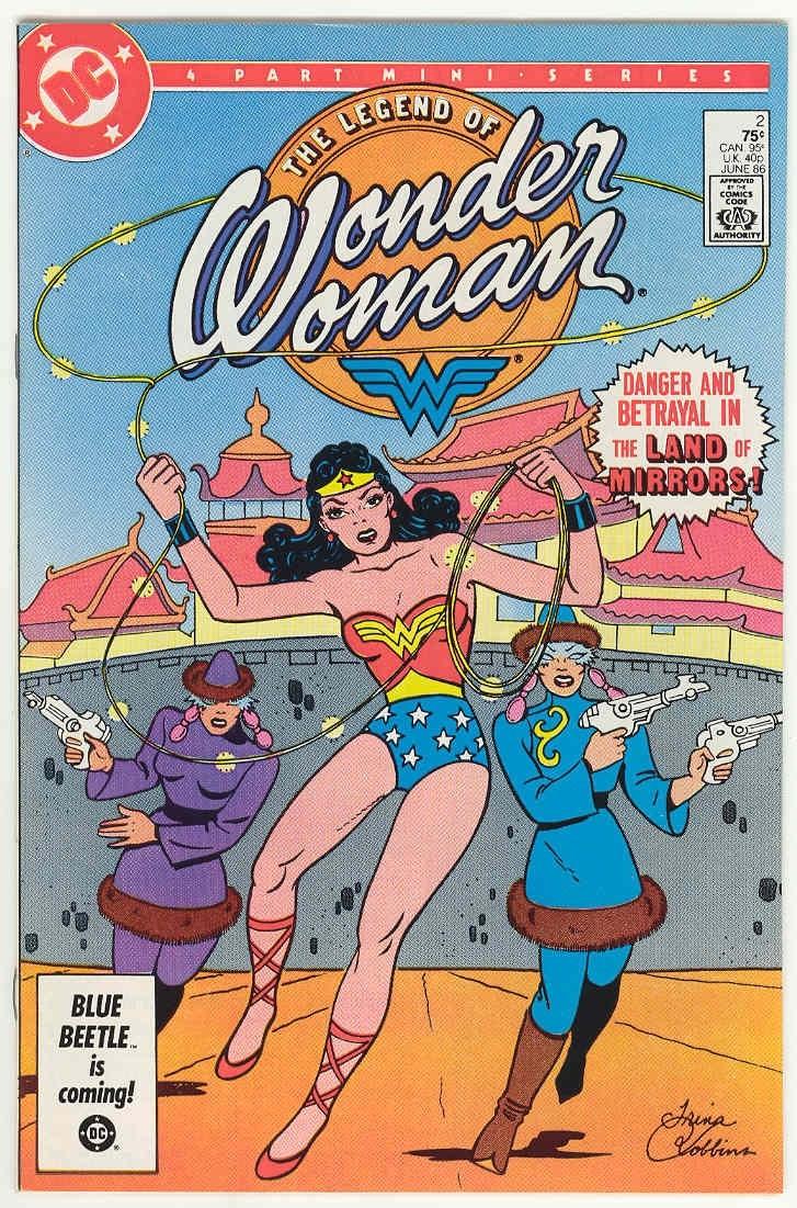 The Legend of Wonder Woman, quadrinho ilustrado por Trina Robbins e inspirado nos traços da versão original da personagem (Foto: Reprodução)