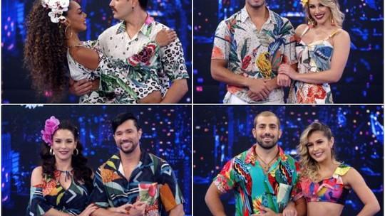 'Dança dos Famosos 2019': confira as apresentações do Grupo 1 dançando salsa