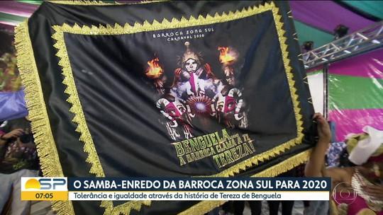 Barroca Zona Sul divulga tema do samba do carnaval 2020